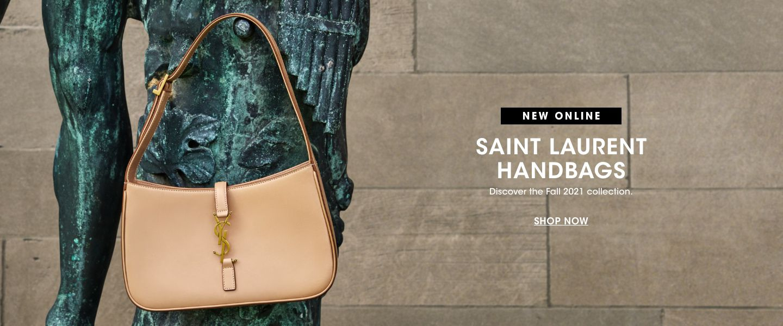 New online. Saint Laurent handbags. Discover the Fall twenty twenty one collection.