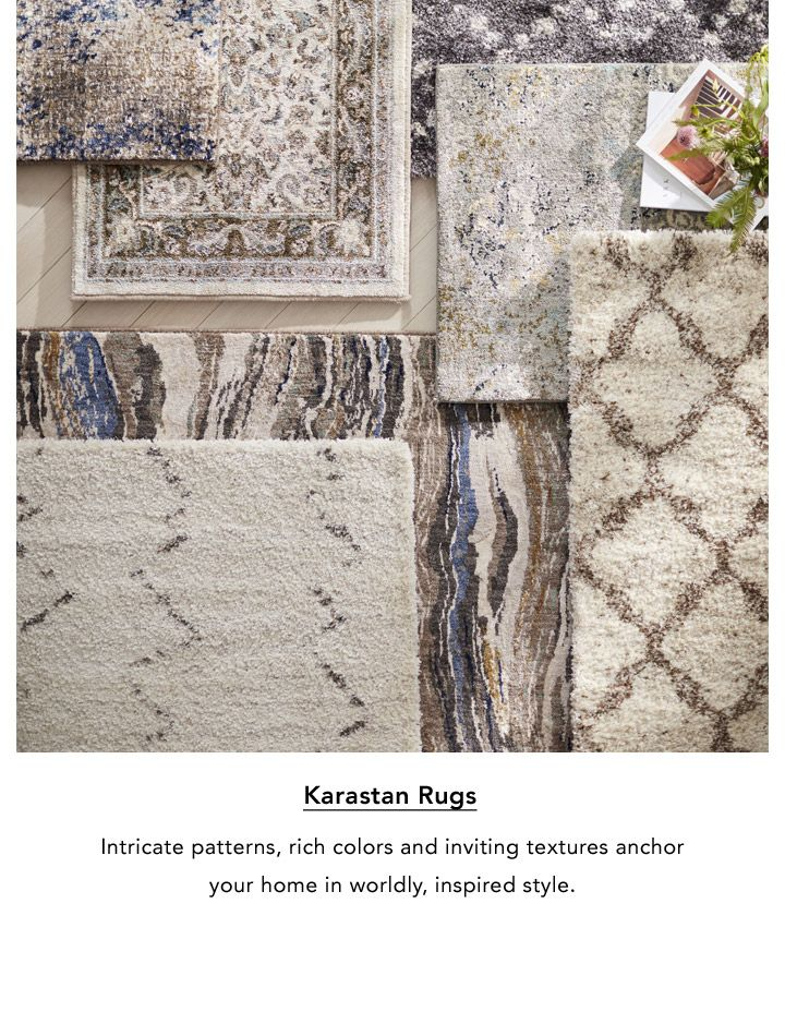 Karastan Rugs. Intricate patterns, rich colors and inviting textures anchor your home in worldly, inspired style.
