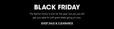 Black Friday deals 2019: Shoes, Bags & Clothing on Sale on