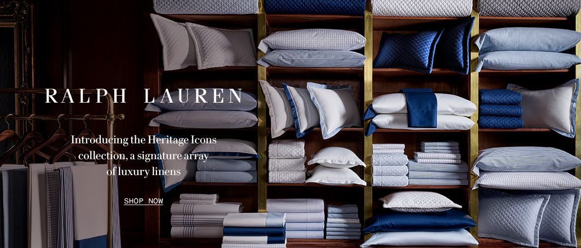 Shop Ralph Lauren Heritage Icons collection, a signature array of luxury linens.