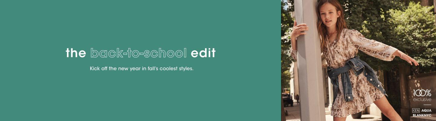 Shop the Back to School Edit