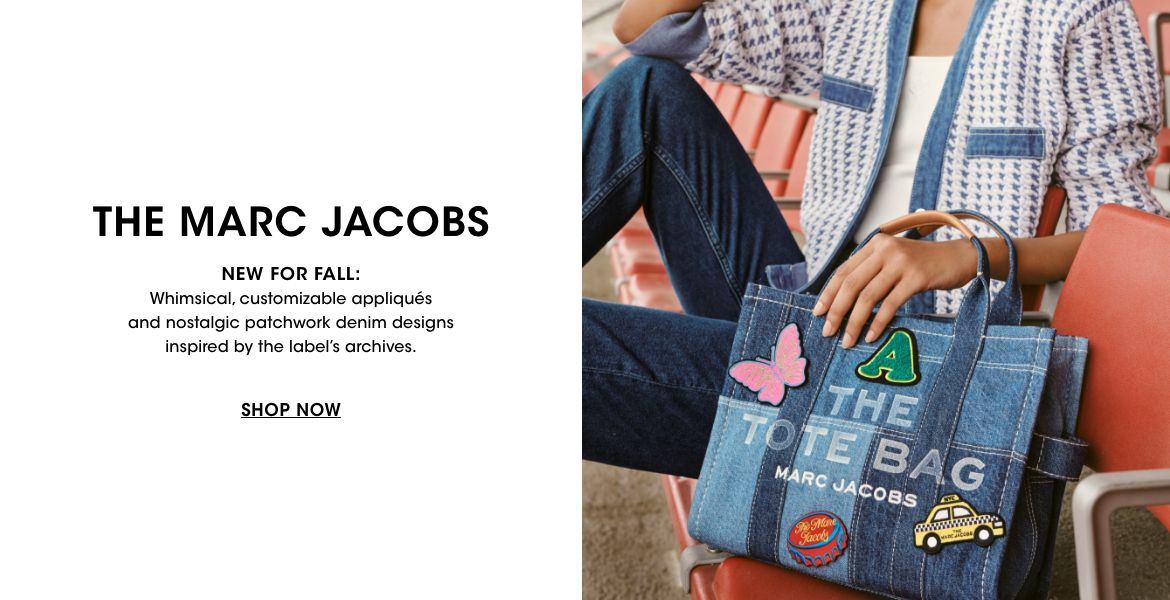 The Marc Jacobs. New for fall. Whimsical, customizable appliques and nostalgic patchwork denim designs inspired by the labels archives.$$marc jacobs