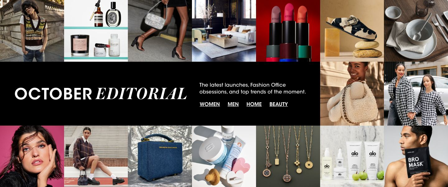 The latest launches, Fashion Office obsessions and top trends of the moment.