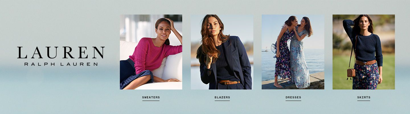 Shop Lauren Ralph Lauren for women sweaters, blazers, dresses and skirts