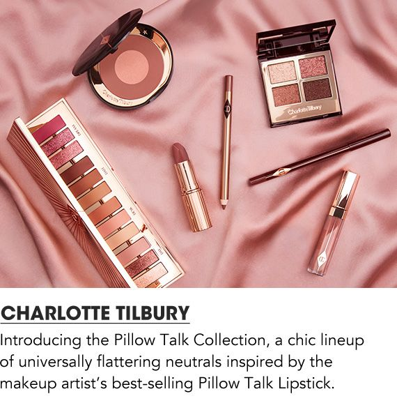 Introducing the Pillow Talk Collection, a chic lineup of universally flattering neutrals inspired by the makeup artist's best-selling Pillow Talk Lipstick. Shop Charlotte Tilbury.