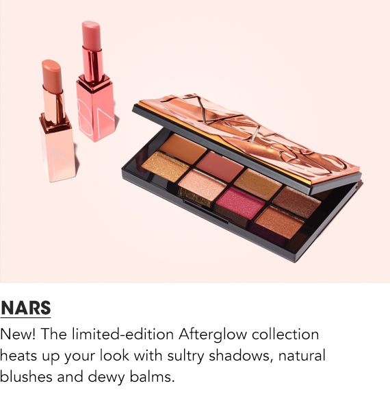 The new limited edition afterglow collection heats up your look with sultry shadows, natural blushes and dewy balms.