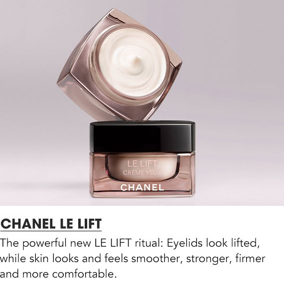 The powerful new Le Lift ritual: eyelids look lifted and skin looks and feels smoother, firmer and more comfortable.