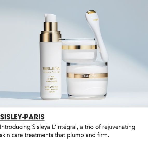 Introducing Sisley L'integral, a trio of rejuvenating skin care treatments that plump and firm