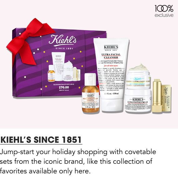 Jump start your holiday shopping with covetable sets from Kiehl's Since 1851
