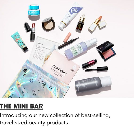 The Mini Bar, introducing our new collection of best selling travel sized beauty products