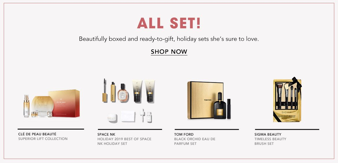 Beautifully boxed and ready to gift, holiday sets she's sure to love!