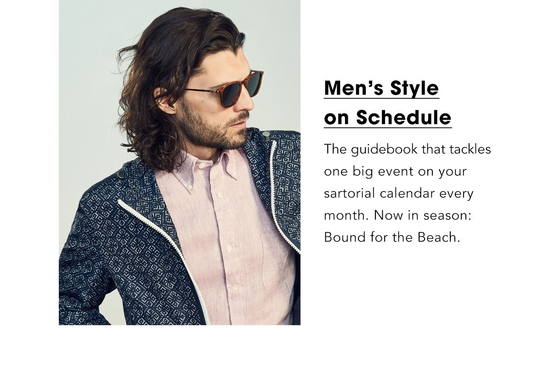 Men's Style on Schedule