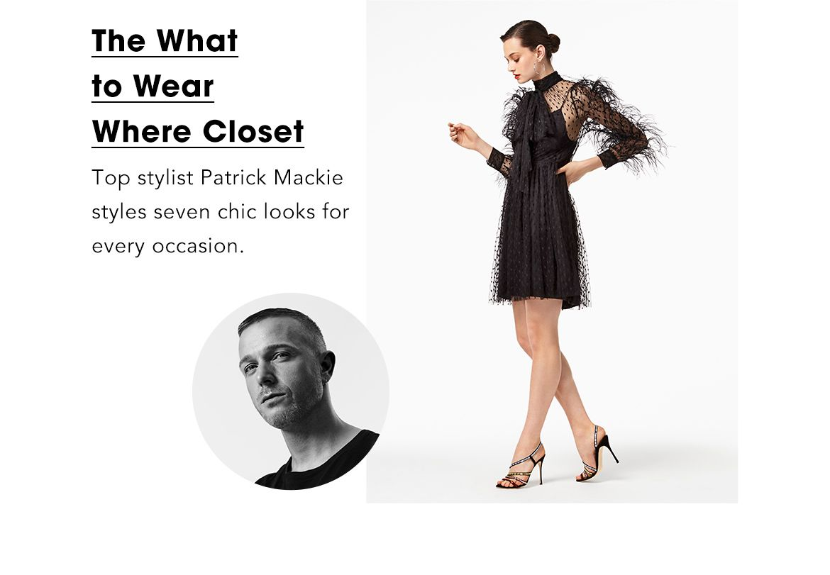 eee0913396f119 EDITORIAL. May Editorial. 100% Bloomingdales. The What to Wear Where  Closet. Fashion Director Finds
