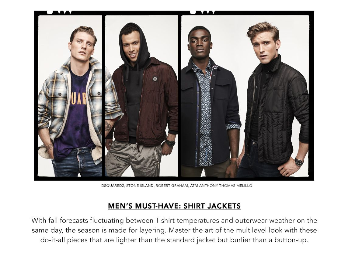 Explore Men's Shirt Jackets