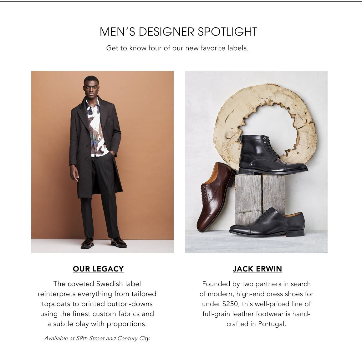 Explore Men's Designer