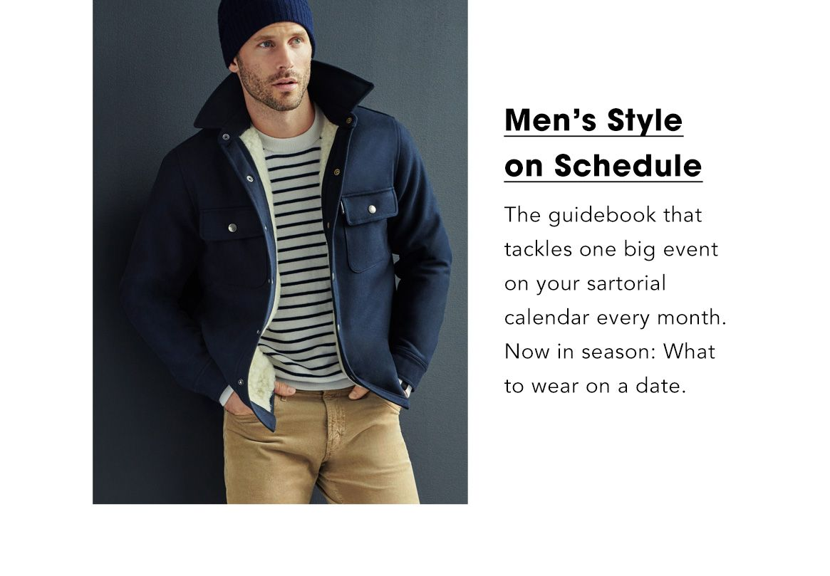 Men's style on schedule. The guidebook that tackles one big event on your sartorial calendar every month. Now in season: summer vacations.$$fashion packed life