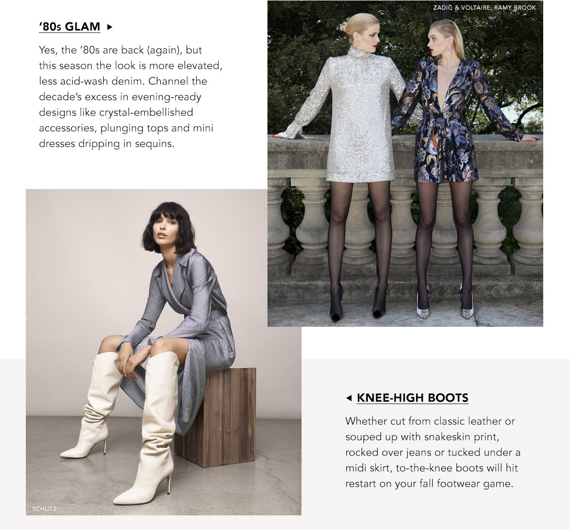 Explore 80s Glam and Knee High Boots