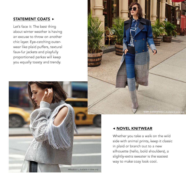Explore Statement Coats & Novel Knitwear