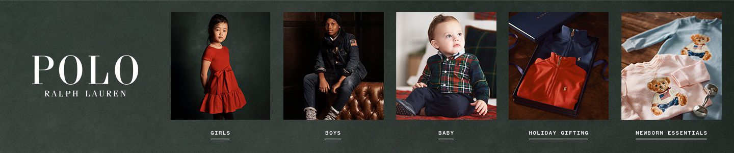 Shop Polo Ralph Lauren for all of your children's needs from girls, boys, babies and gift ideas!