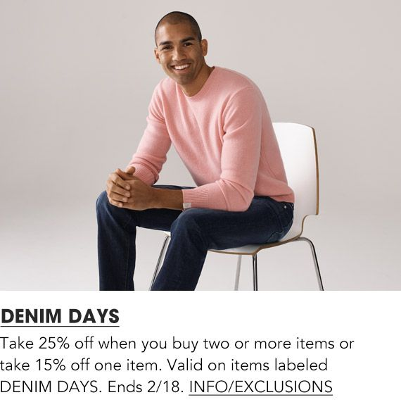 Shop Men Denim Days Event