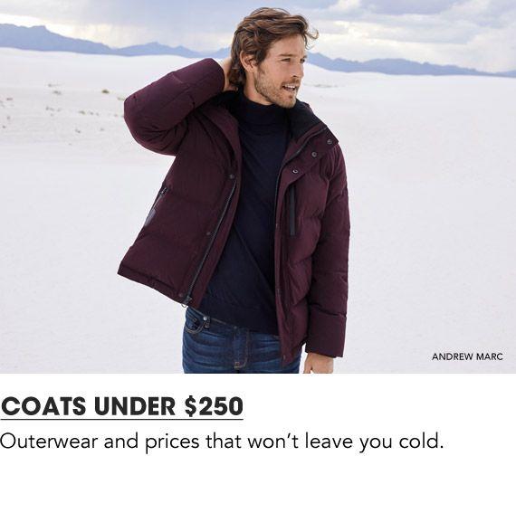 Shop Men Coats and Jackets under 250