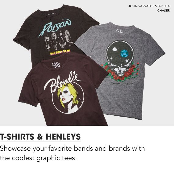 Shop Men T Shirts and Henleys