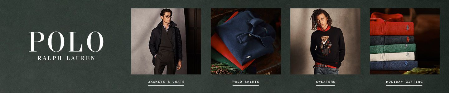 Shop Polo Ralph Lauren and RLX Ralph Lauren for men from outerwear and polo shirts to sweaters and gift ideas.