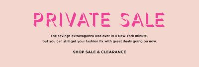 Private Sale 2020: Clothing, Shoes