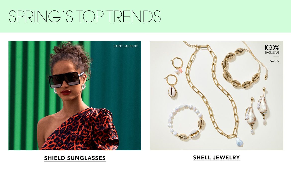jewelry sunglasses shell necklaces earrings bracelets rings shield cateye slim