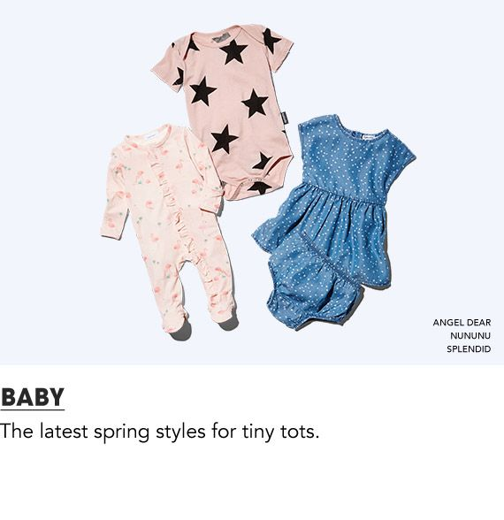 Shop the latest spring styles for tiny tots