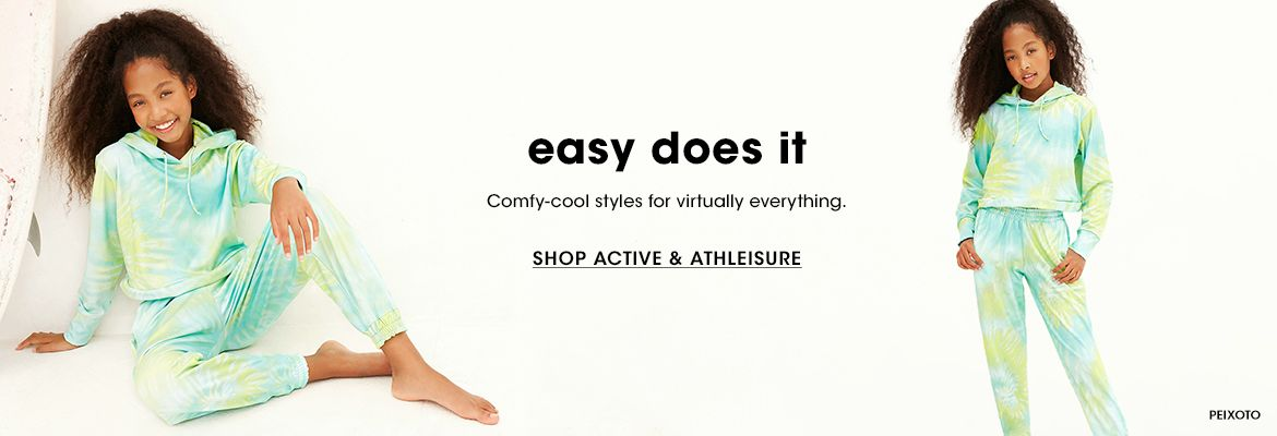 Easy does it. Comfy cool styles for virtually everything.$$kids clothing