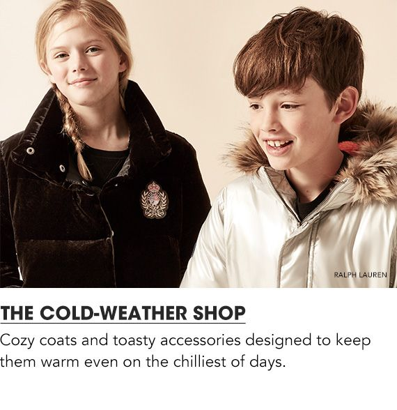 For the Win Ter. Cozy coats and toasty accessories designed to keep them warm even on the chilliest of days.$$kids coats cold weather accessories