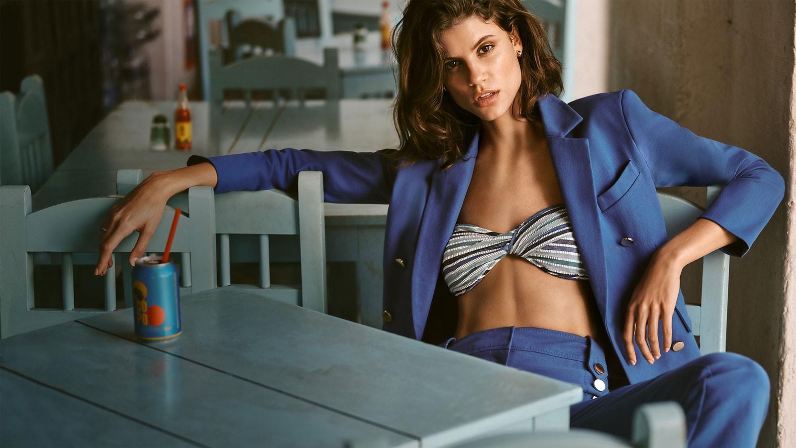 Derek Lam 10 Crosby Blazer & Pants, Jonathan Simkhai Bikini Top & More